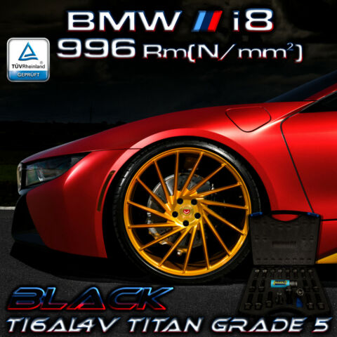BMW I8 PERFORMANCE 996 RM N MM ORIGINAL PTP TITAN RADSCHRAUBEN PVD BLACK