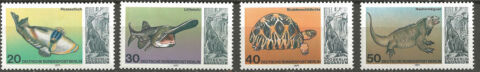 BRIEFMARKEN BERLIN 1977 ZOO BERLIN AQUARIUM POSTFRISCH MICHEL NR 552 555