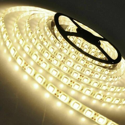 5M 10M 20M 12V 24V SMD 5050 LED STRIPE STREIFEN BAND LEISTE LICHT WARMWEISS IP20 EEK A