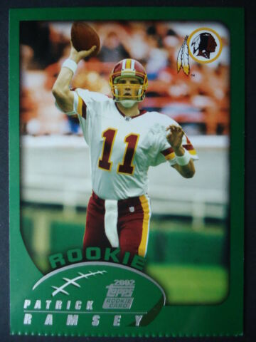NFL 342 PATRICK RAMSEY WASHINGTON REDSKINS ROOKIE TOPPS 2002