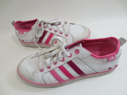 ADIDAS SCHN R SNEAKER LOW TURNSCHUHE 5 1 2 38 2 3 WEI LACK PINK TIP TOP 50