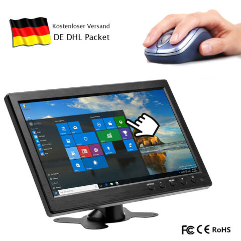 10 1 ZOLL HD 1280 800 CCTV DISPLAY BILDSCHIRM PC AUTO MONITOR AV BNC VGA HDMI DE