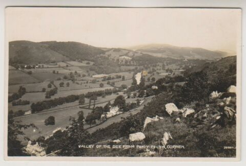 WALES POSTKARTE VALLEY OF THE DEE VON STIFT Y PIGYN CORWEN A963