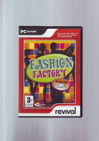 FASHION FACTORY FOR USE WITH THE SIMS 2 PC GAME ADD ON CUSTOMISE OUTFITS VGC