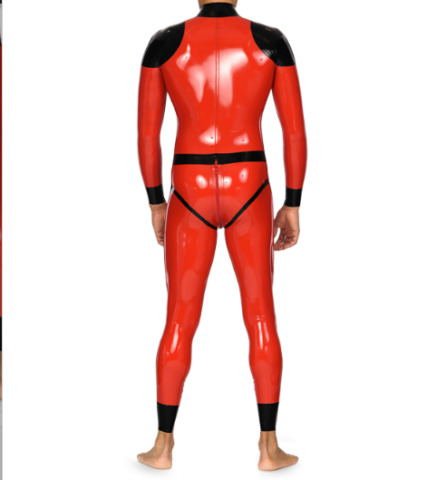 LATEX RUBBER GUMMI ANZUG SUIT CATSUIT GANZANZUG BODYSUIT PARTY