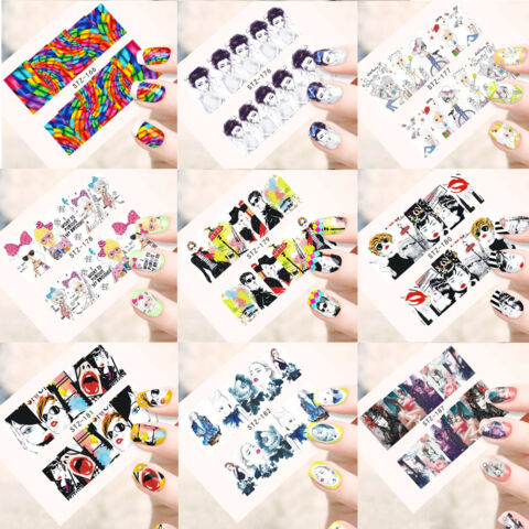 NAGELSTICKER GIRL GIRLS FINGERN GEL AUFKLEBER NAGEL STICKER NAGELDESIGN HIPSTER