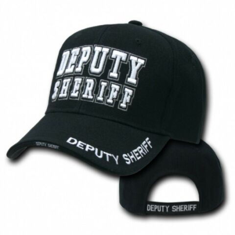 DEPUTY SHERIFF DELUXE LAW ENFORCEMENT CAP USA POLICE M TZE