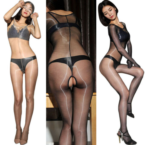 ULTRATHIN TRANSPARENT FULL BODYSTOCKING GL NZEND LANGARM BODYSUIT OUVERT CATSUIT