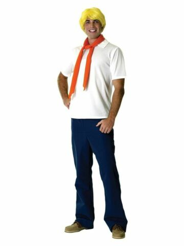HERREN ADULT LICENSED SCOOBY DOO FRED KOST M OUTFIT