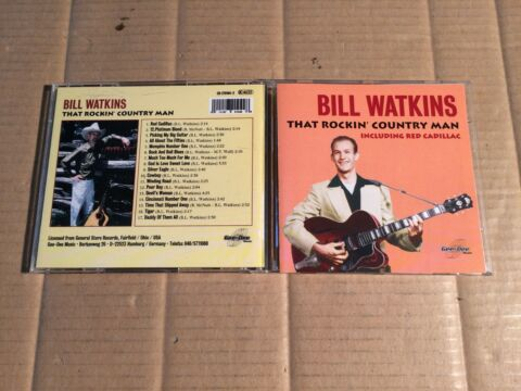 BILL WATKINS THAT ROCKIN COUNTRY MAN INCLUDING RED CADILLAC CD GEE DEE