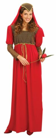 WOMENS JULIET COSTUME MEDIEVAL MAIDEN MARION FANCY DRESS OUTFIT