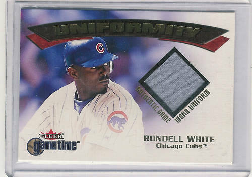 2001 FLEER GAME TIME UNIFORMITY RONDELL WHITE JERSEY