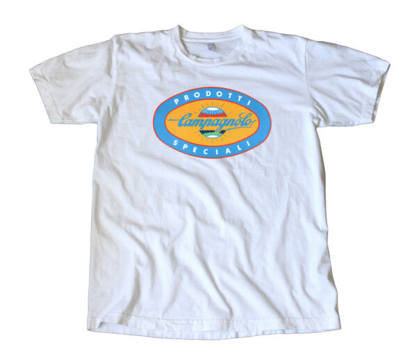 Vintage Classic Campagnolo Blue Oval Logo T Shirt
