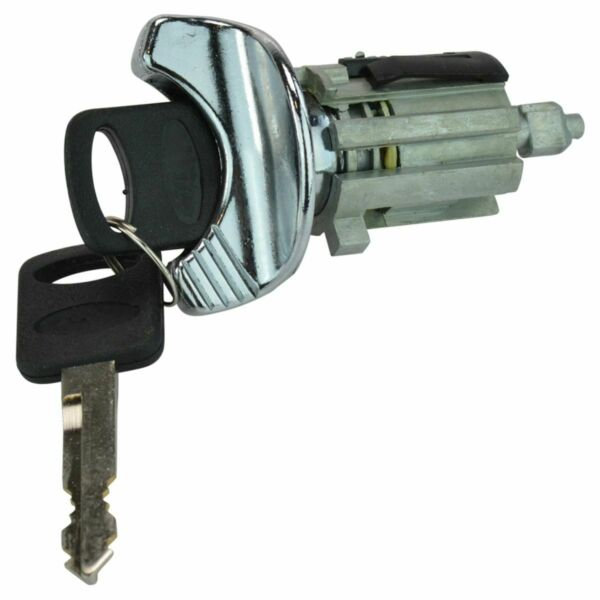 Ignition Lock Cylinder with Key For Ford Mercury Lincoln Models with Chrome Trim