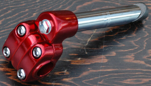 Red Alloy 22.2mm Old School BMX Bike 4 Bolt Quill Stem Cruiser Bicycle Suntour $24.99