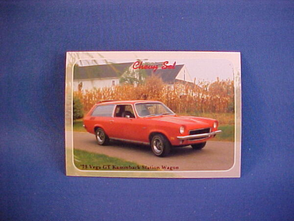 1973 Chevy VEGA GT Kammback Station Wagon collector card from set brand new 73