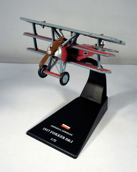 Fokker DR. I - Red Baron - Imperial Germany 1917 - 1/72 (No1)