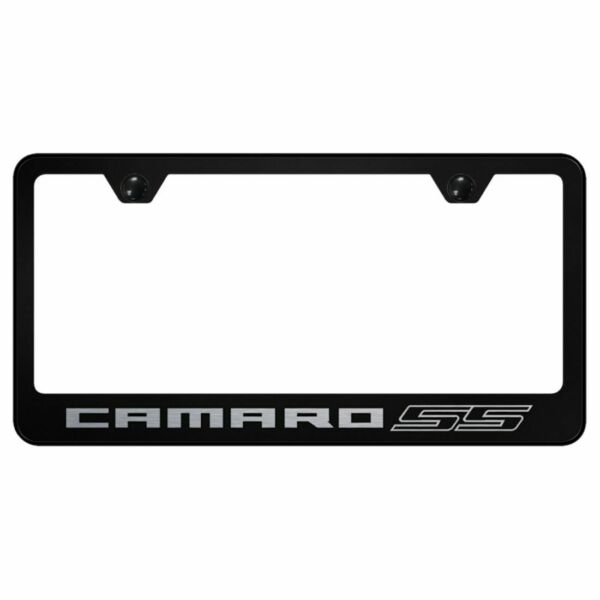 Camaro SS Black Stainless Steel License Plate Frame