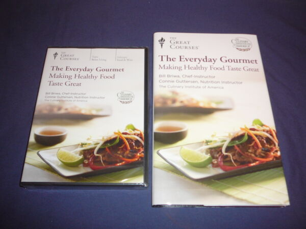 Teaching Co Courses DVD Everyday Gourmet Making Healthy Food Taste Great + BONUS
