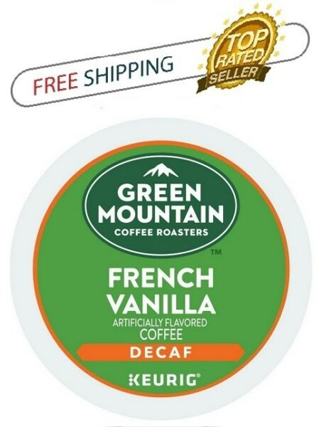 FRESH Green Mountain FRENCH VANILLA DECAF Keurig K-cups Coffee PICK THE SIZE