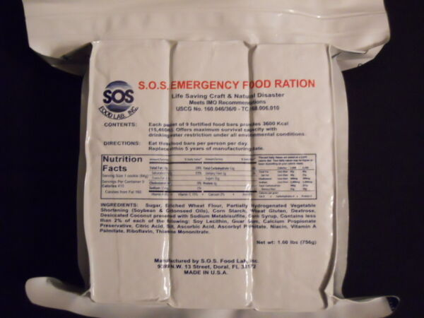 (2 PACK) 6 DAYS EMERGENCY SURVIVAL FOOD RATIONS 2/3600 Calorie Packs 5 YEARS