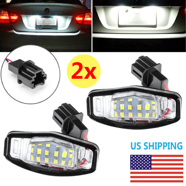 2 LED License Plate Light For Honda Accord Civic Acura TSX TL Direct Replacement $11.99