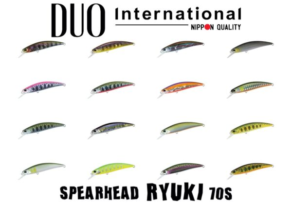 DUO Spearhead Ryuki 70S Sinking Minnow Trout Lure Select Color s $13.99
