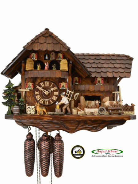Black Forest Cuckoo Clock 8-Day Black Forest Farming Estate - The Mill Farm