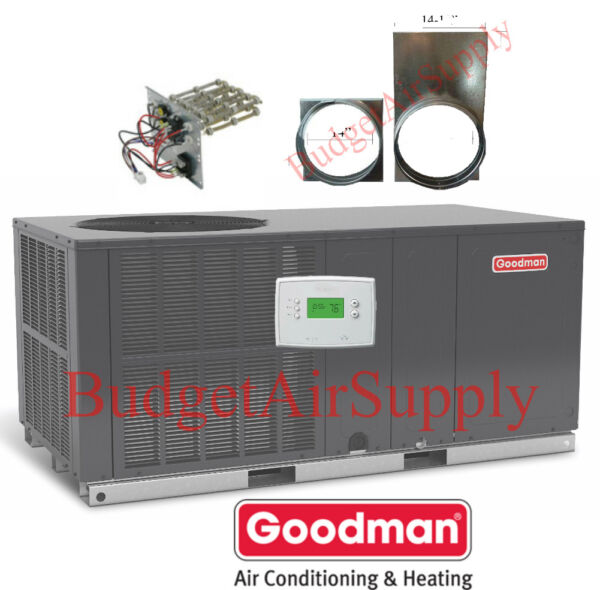 5 Ton 14 seer Goodman A Cquot;All in Onequot;Package Unit GPC1460H41TSTATHeat ADAPTERS $3016.00