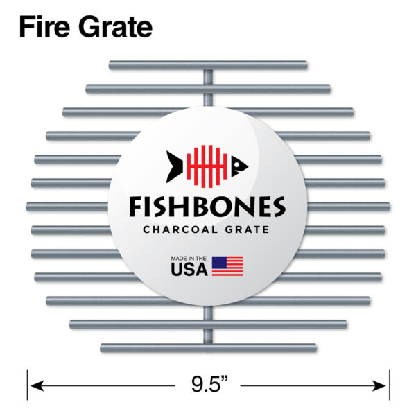 Fishbones Charcoal Fire Grate Upgrade for Large Big Green Egg R