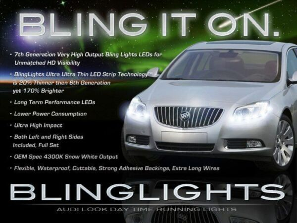 Buick Regal LED DRL Head Light Strips Day Time Running Lamps Kit