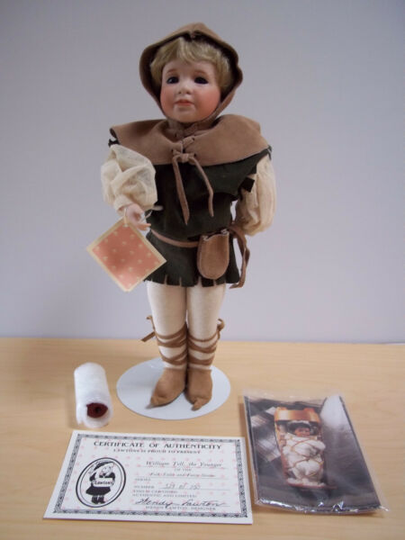 Wendy Lawton Doll William Tell The Younger - 1992 - Full Porcelain Mint in Box