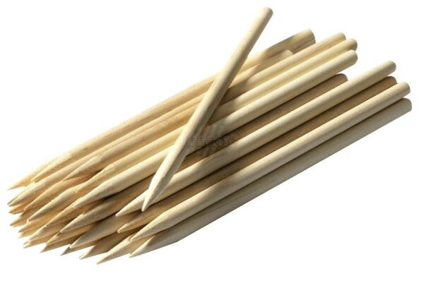 CARAMEL CANDY APPLE CORN DOG STICKS 25ct Pointed Wood Skewers Dowels 8quot;x1 4quot; $4.99
