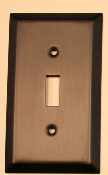 Switch Plate Outlet Cover Wall Rocker Oil Rubbed Bronze Single Toggle $2.99