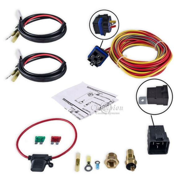 Champion Cooling Systems Electric Fan Relay Kit for Single or Dual Fans