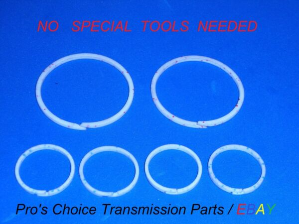 **NO TOOLS NEEDED**Teflon Ring Combo Kit---Fits ALL 700R4 4L60 MD8 Transmissions