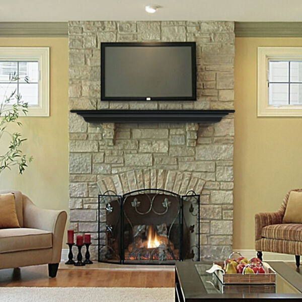 Pearl Mantel Crestwood fireplace mantel shelf. 48-72