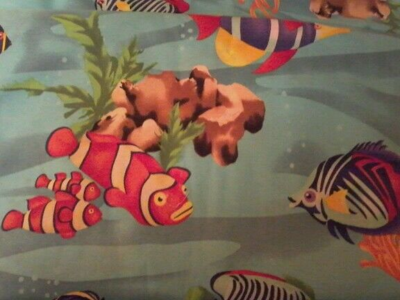 TROPICAL FISH 100% COTTON 45quot; WIDE VIP QUILT FABRIC $12.99