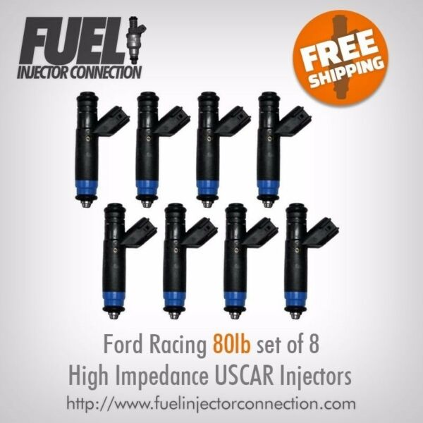 Ford Racing 80lbhr High Impedance Injector Set of 8