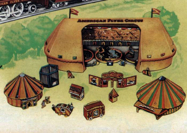 Reproduction American Flyer Cardboard Circus Tent & Accessory Set