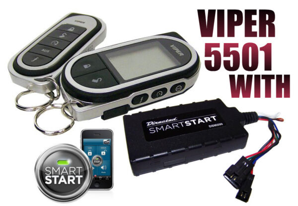 VIPER 5501 WITH SMART START MODULE CAR REMOTE START KEYLESS ENTRY 2 WAY SYSTEM