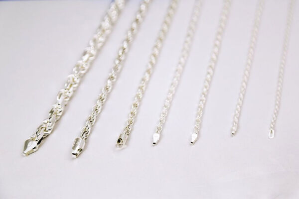 1.5MM-7MM .925 STERLING SILVER  MEN WOMEN SOLID ROPE CHAIN NECKLACE SZ 16