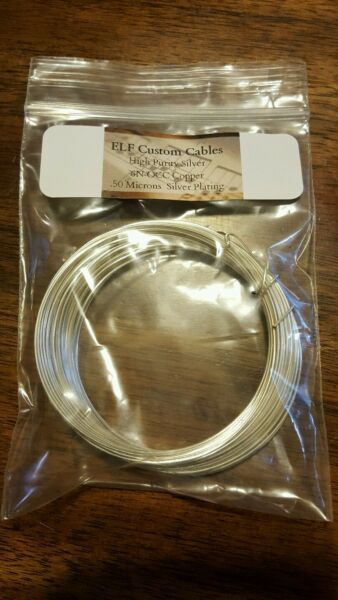 20awg silver plated 99.9999 % pure OCC solid core copper wire 24ft. $60.00