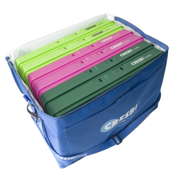 CRESBI Collapsible 6 Pack Set Folding Stacking Grocery & Crates USA made Cooler