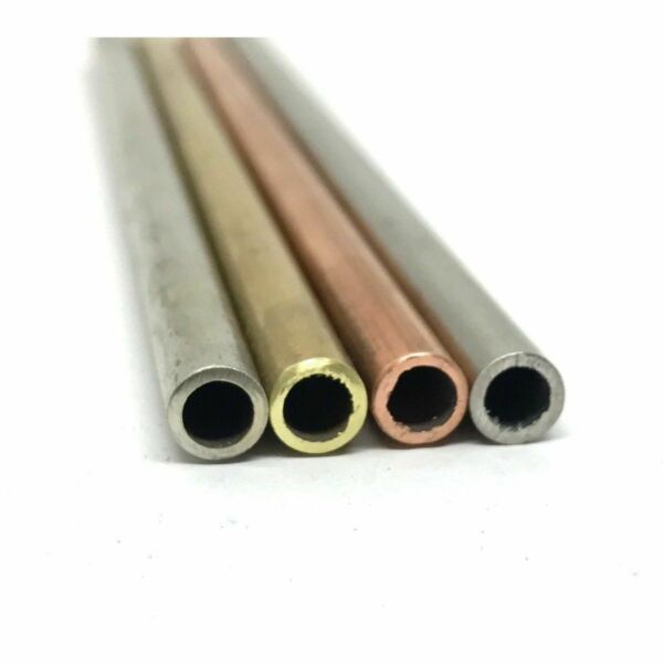 .25quot; 1 4quot; Round Tube Lanyard Knife Making STAINLESS COPPER BRASS NS 1 PC