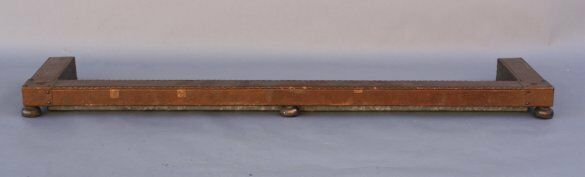 1910 Copper Fire Fender Fireplace Hearth Home Vintage Antique Decor (7596)