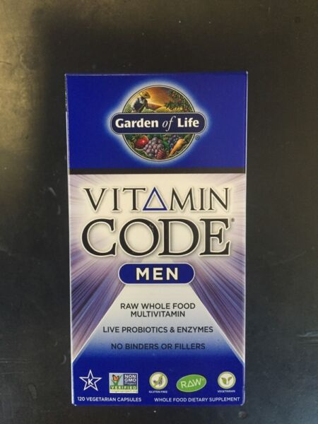Garden Of Life Vitamin Code Men 120  Capsules Whole Food Multivitamin Vegan
