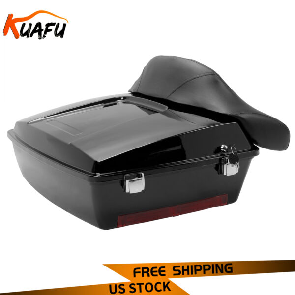 Black Tour Pak Pack Trunk For 97 13 Harley Davidson Touring Road King FLHT FLHR $176.00