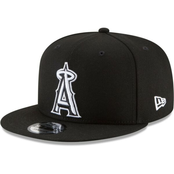 Los Angeles Anaheim Angels New Era 9Fifty Black White Adjustable Snapback Cap