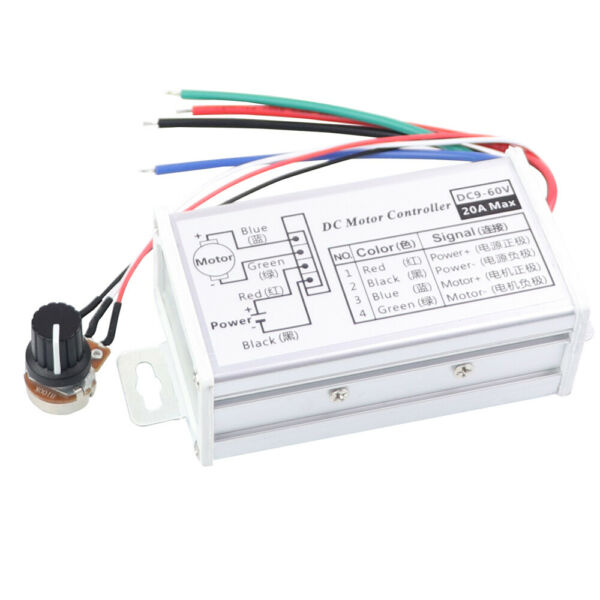 12V 24V Max 20A PWM DC Motor Stepless Variable Speed Control Controller Switch $9.78